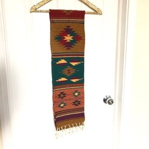 Woven Aztec Tapestry Wall Tapestry or Table Runner